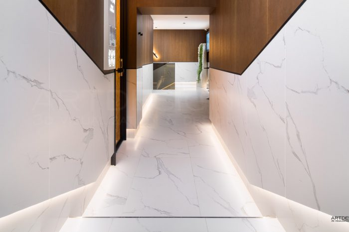 Интериорен дизайн на Спа център в Хотел Перелик Пампорово